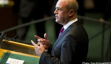 Reinfeldt discussed equality in the UN