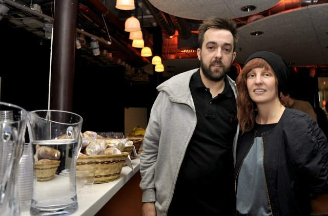 Lunch Beat<br>Lunch Beat founder Molly Ränge and her helpful friend Marcus CarlssonPhoto: Joel Linde