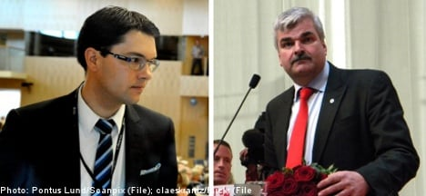 Juholt to SVT: don't have Åkesson stand so close to me