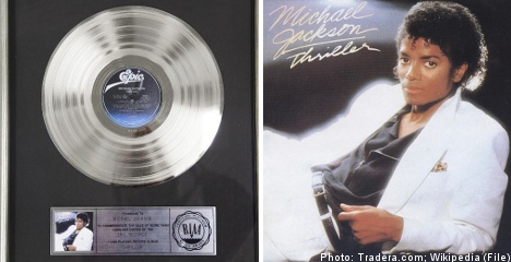 'Fake' Michael Jackson record sold in Swedish charity auction