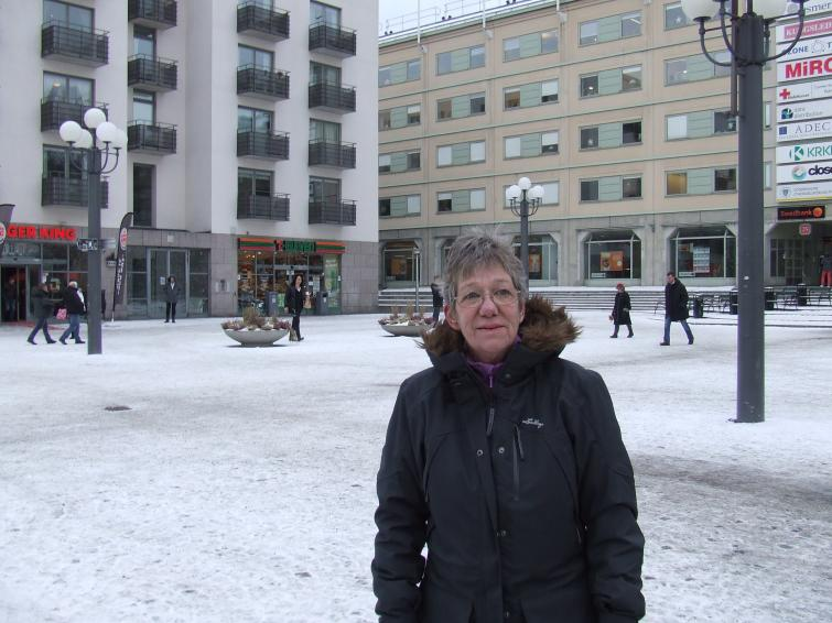 """Birgitta, 67, Stockholm<br>""""Yes, he did the right thing. He was honestly a target for the media, and he had a bad support staff too. I can't see any of them taking the job now.""""Photo: Photo: Oliver Gee"""