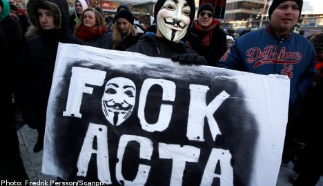 Swedes out in force to protest anti-piracy law