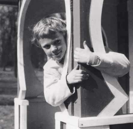 As michevious now as then?<br>A two-year-old Carl Gustaf playing in the gardens of Haga Castle, where his granddaughter, the new Swedish Princess, will also grow up. Photo: Photo: Wikipedia