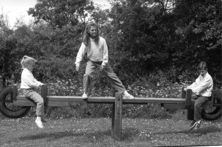 Royal kids at play on Öland in 1988<br>The Swedish Royal children at play during their summer holidays in 1988, at the same summer residence at Solliden on Öland where their father had played as a child and where the new little Princess is likely to romp during future summers.Photo: Photo:Joan Collsiöö/Scanpix