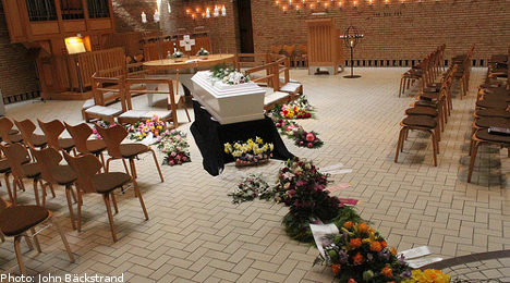 Dead Swedes face burial against families' wishes