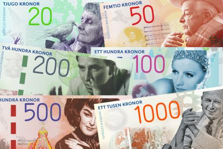"""The """"Beloved actors"""" theme was among the finalistsPhoto: Riksbank"""