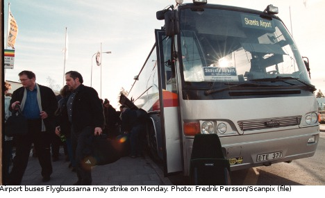 Wage deal keeps Sweden airport buses running