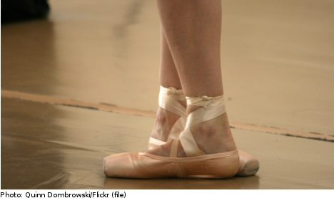 Hockey brutes trade skates for ballet shoes