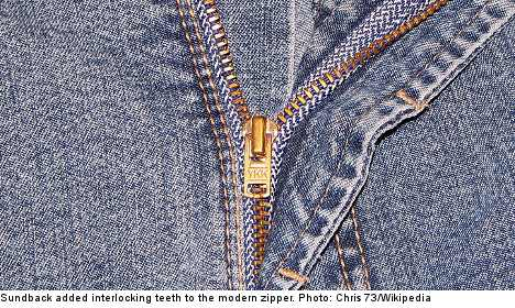Google hails Swede who perfected the zipper