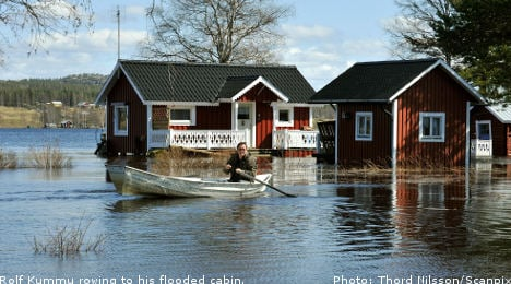 Extreme water levels in Sweden's far north