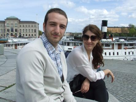 Andre, 23, and Sonya, 25 - Stockholmers<br>Get a kebab from a place with a great view!