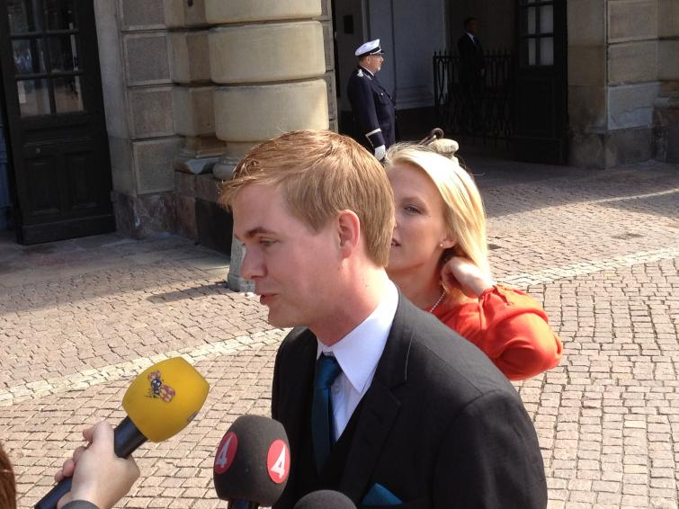 Gustav Fridolin, Green Party head<br>I think Estelle has a very beautiful name. It's always fun to go baptisms