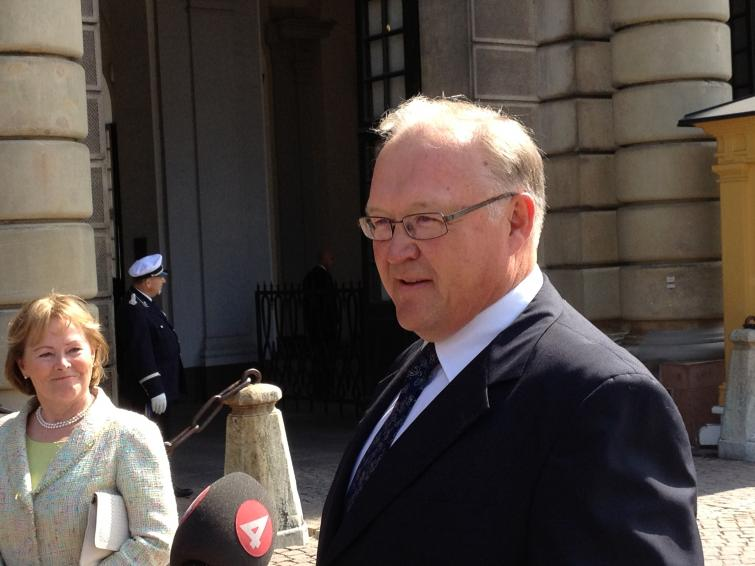 Former prime minister Göran Persson<br>I'm looking forward to the whole ceremony