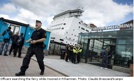 Ferry evacuated in Stockholm harbour