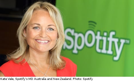Spotify launches its services Down Under