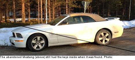 White Mustang mystery stumps Swedish police