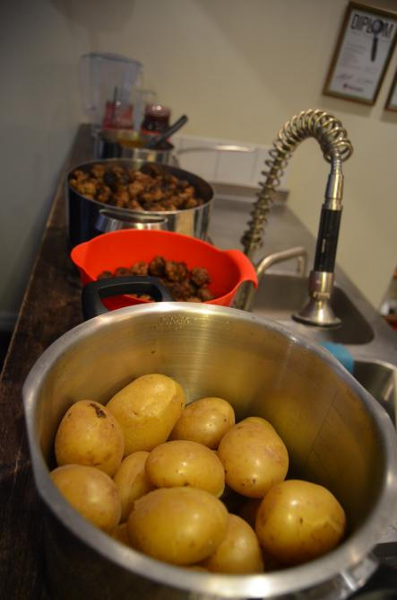 How to cook Swedish Meatballs<br>Step 8: The meal is finally cooked and ready to serve. Lay the dinner table for yourself, your family and/or your friends -  if you really want to share, that is.Photo: Susann Eberlein