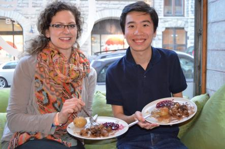 """How to cook Swedish Meatballs<br>Catherine (Canada) and Peter (Hong Kong) rave over """"The Meatball Experience"""": """"It was fun. And it's delicious.""""Photo: Susann Eberlein"""