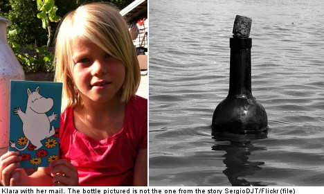 Swedish girl's message in a bottle gets reply