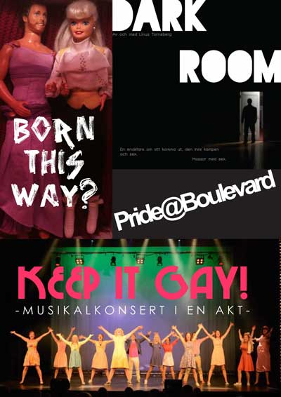 Theatre Boulevard<br>The Boulevard Theatre at Götgatan 73 is a sideshow to pride that offers various shows all week like 'Keep it gay!', a musical in one act or 'Dark Room', a homo-monologue about having the guts to step out of the closet.Photo: Boulevardteatern