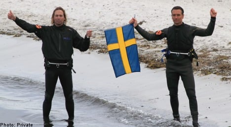 Swedes windsurf to Germany in record time