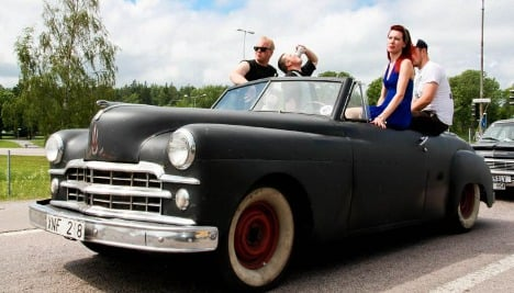 Sweden's Power Big Meet: hub caps, hair grease, and 'Happy Days'