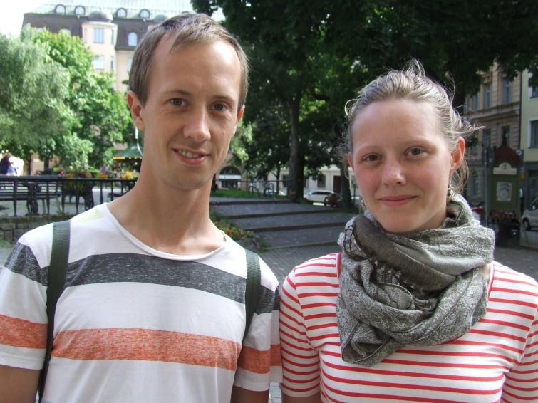 Viktor, 27 & Hedvig, 19<br>Viktor: He saved people from concentration camps. Hedvig: No idea. He was a rich diplomat. Photo: Photo: The Local
