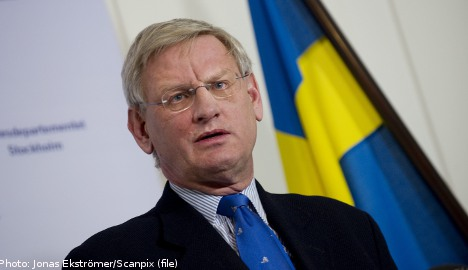 Bildt 'worried' about UN withdrawal from Syria