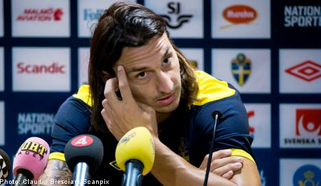 Zlatan ruled out of playing Brazil friendly