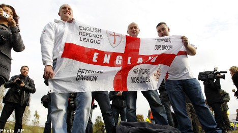 EDL in Stockholm for 'counter-jihad' meet