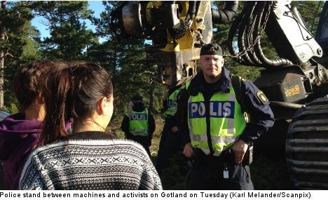 Police block activists at disputed mining site
