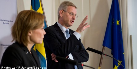 Bildt: sectarian tensions pose risk for Syria