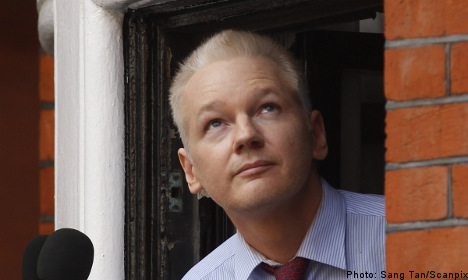 'Assange could spend a year in embassy': father
