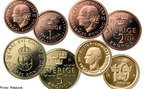 Sweden unveils new 'themed' coin designs