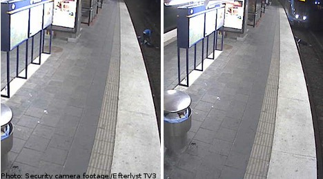 Man hit by train after robber leaves him to die