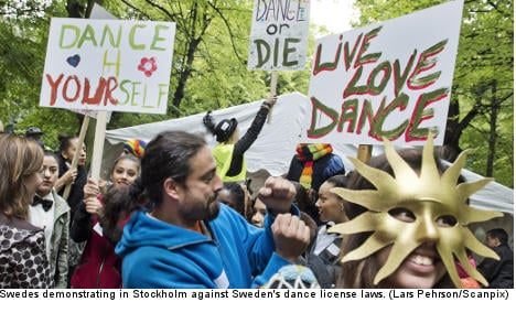 Swedes hit streets in fight for right to dance