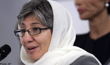 Swedish rights prize to Afghan burka opponent