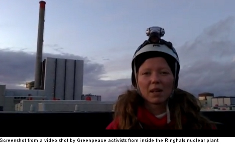 'I have been here for 27 hours': anti-nuke activist