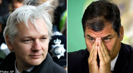 Correa: Sweden can talk to Assange in London