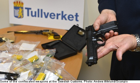 Sweden reports drop in illegal weapon smuggling