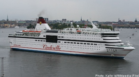 Ferry passenger forced to jump overboard