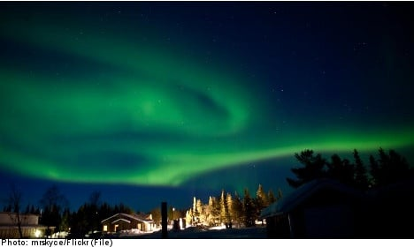 Mad tourist rush to see Sweden's northern lights