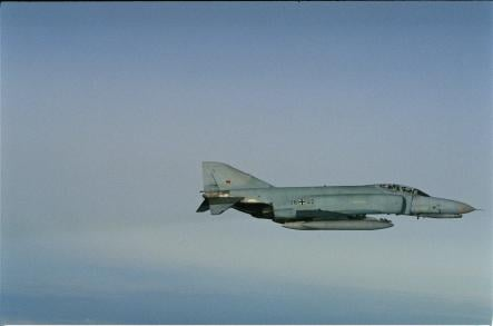 F-4 Phantom<br>The F-4 Phantom II is a tandem, two-seat, twin-engine, all-weather, long-range supersonic jet interceptor fighter/fighter-bomber and has a top speed of over Mach 2.2.Photo: Swedish Armed Forces