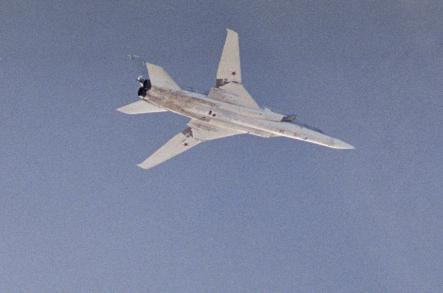 Tupolev Tu-22 <br>The Tupolev Tu-22 was the first supersonic bomber to enter production in the USSR. Later in their service life, Tu-22s were used as launch platforms and as reconnaissance aircraft. Tu-22s were sold to other countries, including Libya and Iraq. Photo: Swedish Armed Forces
