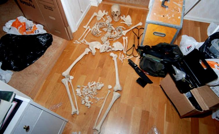 Police photos: Woman charged for sex with human skeleton
