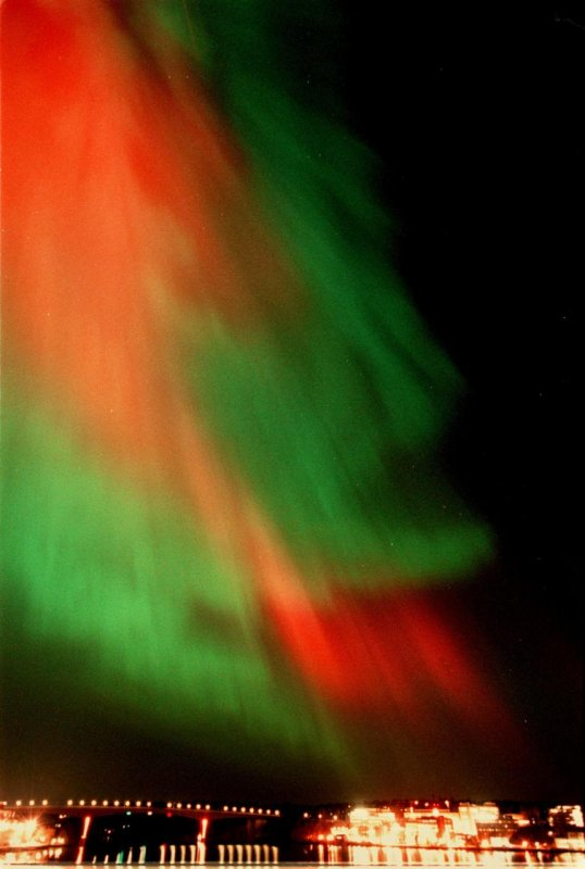 The northern lights in Stockholm, in 2000Photo: Jan E Carlsson/Scanpix (File)