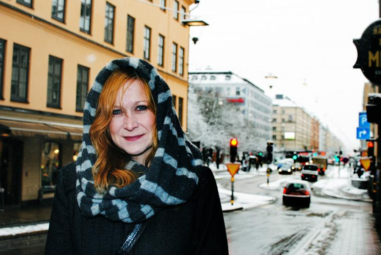 Carina, 39<br>I wish it was colder so that the snow would stay on the ground. Otherwise it's quite like Christmas.Photo: Eric Johansson