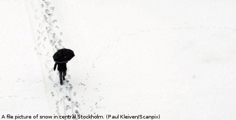 Snow and winter's chill set to grip Sweden