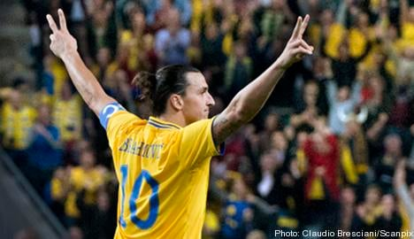 Zlatan nets four as Sweden claim victory
