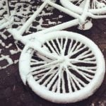 Sweden's bike paths neglected after snowfall